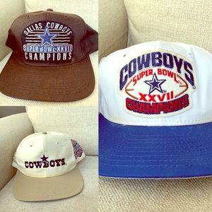 Vintage Dallas Cowboys Hat Bundle